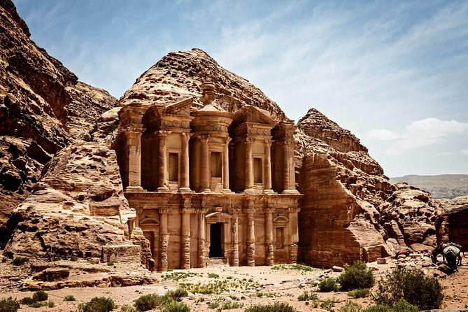 Experience the south of Jordan with the Petra and Wadi Rum one day tour. This tour is ideal visiting Jordan's best kept secrets: the Wonder of the World- Petra and Hollywood's preferred movie backdrop- Wadi Rum. A full day with an early departure and late return, full of memories and stories to share.<br><br>The tour starts early at 630 am with a pick up from central Amman with a private car and driver transfer south to Petra for a tour in the morning. Your friendly and professional driver will assist along the way to organize your Petra tour (optional guide for hire at the Petra Village Center). Then to Wadi Rum to experience the breathtaking landscape of Jordan' stunning desert terrain which includes a 2 hour authentic Bedouin jeep and local driver to take you deep into the 'Rum Desert' for an off -road experience! Replicate the spot where Golden Globe winner Matt Damon sat on 'Mars' from the movie The Martian.<br><br>Your day ends with a transfer back to Amman in the evening hours.<br>