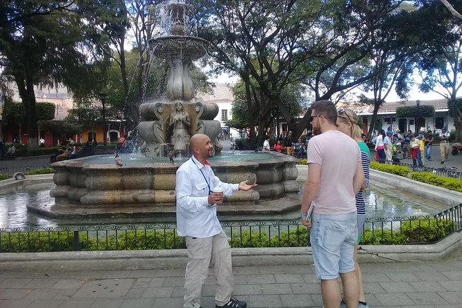 Antigua in your hands with Mayan village from Puerto Quetzal, Puerto Quetzal, GUATEMALA