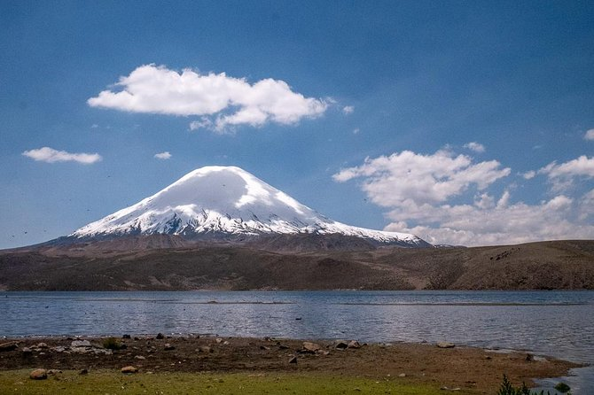 We invite you to visit one of the highest lakes in the world the Chungara Lake-elevation of 4517 m. in the Altiplano of Arica y Parinacota Region in the Lauca National Park Chile.<br><br>But before visiting the Chungara Lake, we are presented with a fascinating adventure. We will get acquainted with the ancient culture the region of Arica and Parinacota and touch exotic nature. We will stay in such places<br><br>The geoglyphs of the Lluta Valley<br><br>San Gerónimo de Poconchile <br><br>Сactus candelabra<br><br>Visit Pucará de Copaquilla. Then lunch in village community of Zapahuira. Chilean asado (barbecue), fire. We will sleep in the village Socoroma to the adopted the altitude.<br><br>The next day, we will have breakfast and go to the amazing park Lauka. In the Park we will make stops to make small walks to see the local flora and fauna: vicuñas, vizcachas, flamingos.<br><br>We will arrive at the Chungará Lake.<br><br>We will see incredible landscapes, the volcanoes Pomerape and Parinacota. Then we will go to the hot springs of Jurasi.