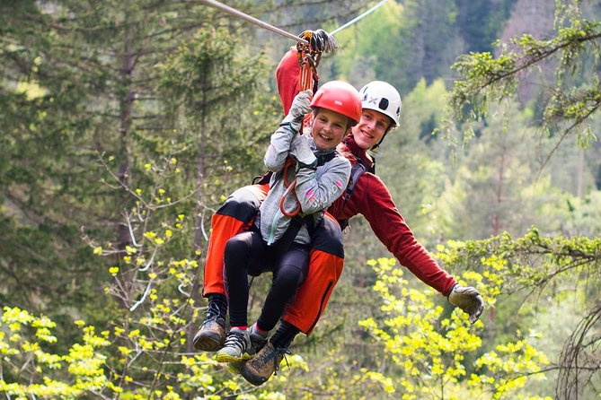 The Zipline Dolinka in Bled offers an outdoor experience that combines an adrenalin ride on five zipline cables and a natural science trip through the valley of the Sava Dolinka river whose middle part called Brje is protected as a natural monument and is a part of the Natura 2000 network.<br><br>The trip includes 7 zipline cables that are between 350 m and 700 m long and have an overall length of 4 km. The zipline descents are connected with interesting forest and field trails.<br><br>There are also several stops which offer an insight into flora and fauna and give a spectacular view to the peaks of Triglav, Stol and Babji zob.