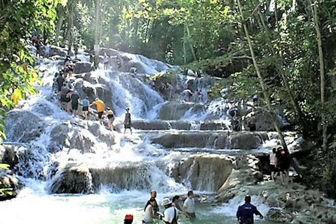Blue Hole plus Secret Falls and Dunns River Falls Combo from Falmouth Hotels, Falmouth, JAMAICA