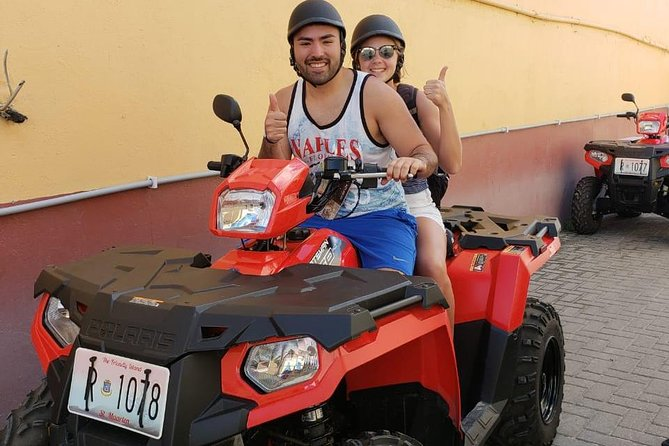 Explore the island of St.Maarten/St.Martin like a local on your own ATV/QUAD with this ATV/Quad island Tour Package.<br>You'll get to enjoy the best of both worlds from the French and Dutch side where we'll<br>take you to our secret & famous beaches, exploring mountains where you'll be able<br>to take photographic pictures of our beautiful island and go to historical places.