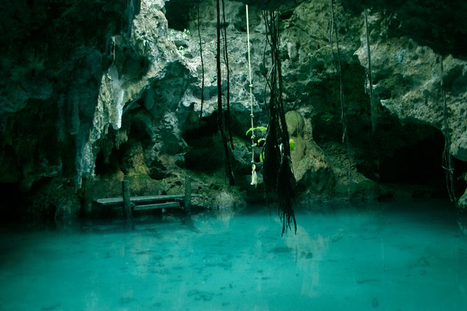 This half-day tour combines snorkeling in the Caribbean sea with an amazing cenote adventure. You will visit the second largest reef in the world in front of Tankah bayand then a 600-meter long cave, where you can see the different types of limestone formations and learn about the meaning and importance that these cenotes have in these region. <br><br>Your tour includes Pick up, Drop off, Transportation to the sites, Entrance fees, Lunch, Equipment and a guide all the time.