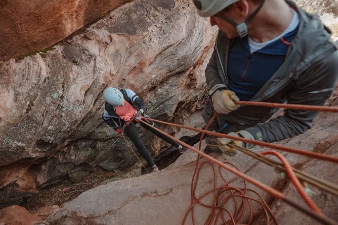 Take your trip to great heights in southern Utah with a small group 4-hour rock climbing and canyoneering combo expedition. Guides will take you on an adventure on the Kolob Terrace Zion National Park, customized to suit all comfort and experience levels. Tours will not exceed six participants per guide.