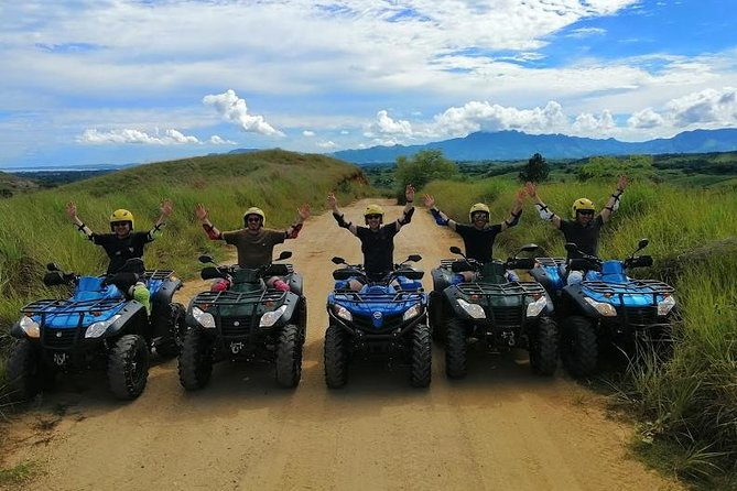This small group 6-7 hour experience begins with riding your ATV past local homes. Then splash through mud puddles (a seasonal offering), zip by cane fields, and ride higher up the pine forest mountainside before stopping on a mountain plateau overlooking the Mamanuca's. Here you'll enjoy light snacks whilst admiring stunning views.<br><br>Next we make our way to Zip Fiji where you'll experience the rush of ziplining 5 kms (16 lines) over caves, canyons, mountaintops and rainforest. <br><br>Afterwards, drive to Momi Gun Point for unobstructed views to Malolo Barrier Reef, the Mamanuca Group, and Navula Passage.<br><br>We'll then make our way home, both on road and off, with a quick stop at the beach before we head back to base.<br><br>You'll be led by a local guide who will proudly tell you all about Fiji along the way.