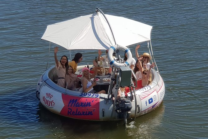 Imagine it's a sunny day and you + favorite crew are having wonderful time on a donut-shaped boat. You skipper along the picturesque Riverbank of the Torrens while enjoying an aussie barbecue or one of our amazing cheese and meat grazers combined with a local glass of wine! Maxin' Relaxin'