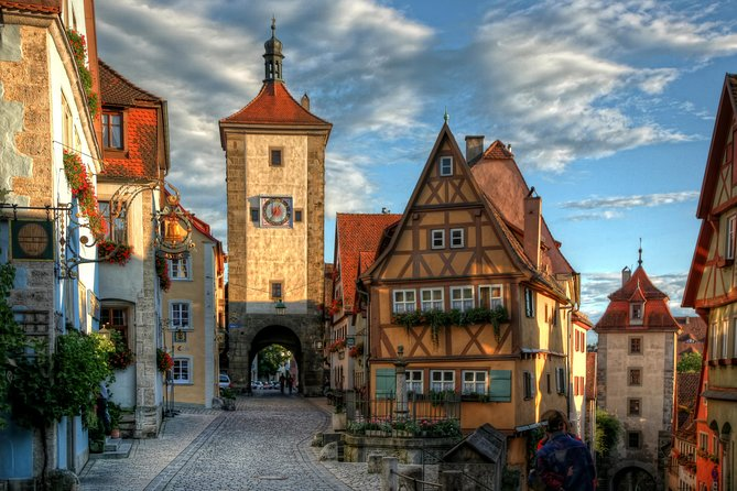 Surround yourself with castles and medieval villages as you travel along the Romantic Road during a full day escorted tour from Munich to Harburg and Rothenburg. There's plenty of free time at each stop, so there's plenty of time for lunch and exploring at your own leisurely pace.