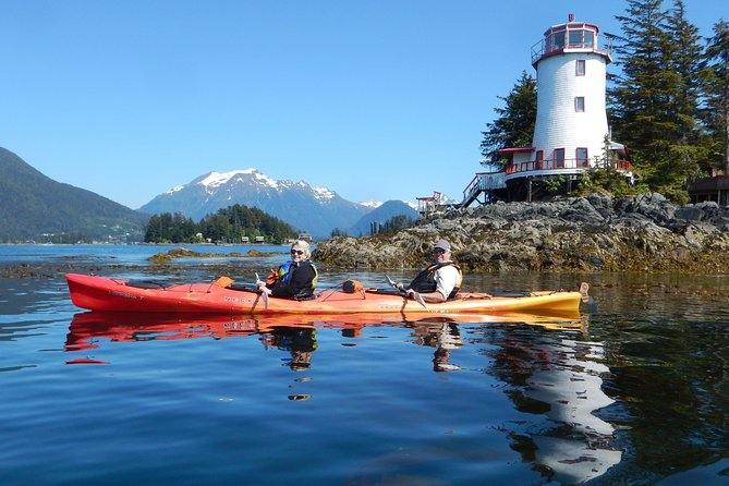 """If the time you have in Sitka is short, or if you have not paddled on the ocean before; this two-and-a-half hour adventure is the perfect sea kayaking """"sampler."""" But be forewarned, those who try it are usually hooked for life! <br><br>Picturesque Sitka is located in the most beautiful setting of any coastal community in Alaska, and it is an area rich in history and culture. Your adventure begins with an equipment and safety orientation by your guides. You'll then set out at a leisurely pace to explore sheltered waterways, harbors and coves.<br><br>Sitka's dependence on the sea will be fully evident as you paddle near fishermen to their vessels. Beyond the harbor we'll explore island shores and kelp forests, while keeping an eye out for abundant wildlife.<br><br>Throughout the tour your attentive, friendly guide will relate interesting stories about the area, explain the ecology of the forests and ocean, and point out wildlife and other interesting sights. <br>"""
