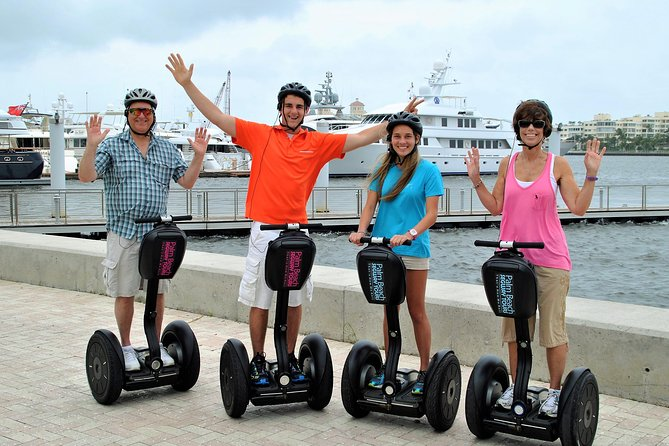 Our 1hr experience rolls through the city of West Palm Beach, along the waterfront and focuses more on the thrill of riding a segway with a bit less time and narration than our 2hr tour. An awesome, unique adventure for those looking to try something new & different. You won't want it to end! Tours fill up fast. Booking in advance recommended.