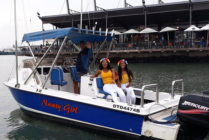 Enjoy a Cruise on Nawty Girl around the Port of Durban and out the harbour to sea in front of Ushaka then back.<br><br>It is very relaxing and private, one can often see sea birds and dolphins in these trips but they are not always around so it is not guaranteed.<br><br>If the weather is good we will exit the port and go out to sea.<br><br>If the wind is too strong or the sea rough the cruise will continue in the port only.<br><br>We have no control over the weather and this is for your comfort and safety. <br><br>Your safety is always in our interests and our boat is equipped with all the required safety equipment, we also have kiddies life jackets available.<br><br>(A point of interest on these cruises we carry some fishing tackle aboard and should we come across a fish we will try catch it to demonstrate and educate fishing, you will not be participating so do not require a fishing licence, if any fish are caught they are released, we do not always come across fish)<br>