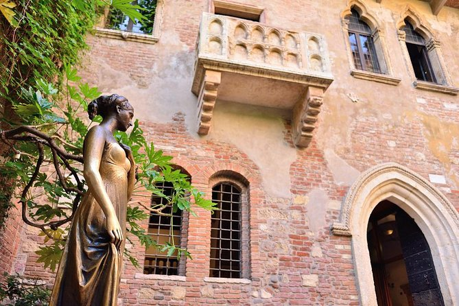 Discover Verona with your local guide. Follow the footprints left by Shakespeare's Romeo and Juliet and be drawn in by this fascinating city.<br><br>Learn about the romance, drama and family feuds of Verona that led Shakespeare to choose the city as the setting for Romeo and Juliet. Start your guided tour at the Arena that was built before Rome's Colosseum and is still used for cultural events.<br><br>Walk to Juliet's house to see the famous balcony and the statue of Juliet. Continue to Herbs Square, where you'll find a lively market, the Lamberti Tower and the ancient Domus Mercatorum. Visit historic Signori Square, where the entire history of Verona can be seen. You'll find structures from the Romans through the Romanesque, Gothic and Renaissance periods. Pass through medieval courtyards on your way to the Scala Family Tombs.