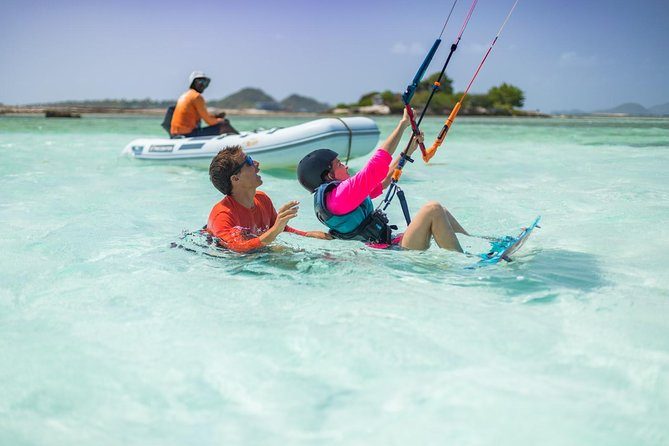 Experience kiteboarding with a 2-hour private or group lesson in Djerba, whose consistent winds and broad beach make it one ofTunisia'smost legendary kiteboarding destinations. Learn to control your kite and stay safe, practice maneuvering, then get out on the board; try the sport for the first time, or hone your technique alongside an expert instructor. Hit with water with brand new gear and an IKO certified instructor, sail along Djerba coast, and discover Tunisia's most thrilling water sport.