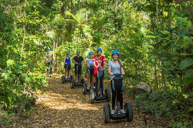 Glide through the pristine Whitsunday Conway National Park on a 3.5-hour guided Segway tour. The only Segway tour in Australia to operate in a full rainforest National Park. Your tour includes full training informative commentary by your experienced tour guide, courtesy bus pickup and drop-off from your Airlie Beach hotel and a delicious and fresh morning tea.