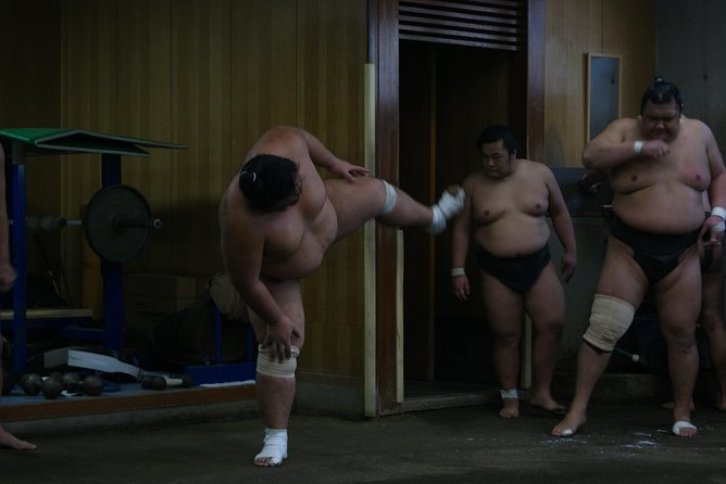 Desafíe a los luchadores de sumo y disfrute de un almuerzo a base de chanko, Tokyo, JAPON