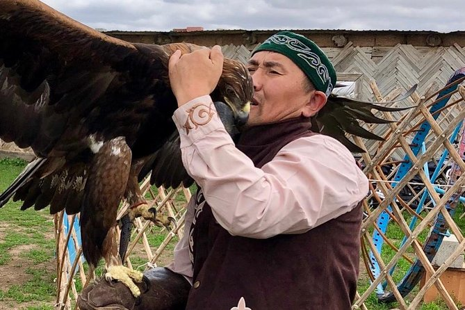 "Join our Kazakh family of Eagle hunters and prepare for an exciting day of cultural and culinary adventures in Astana.<br><br>From the first minutes of your arrival to the village you will be met by mischievous children in Kazakh traditional clothes which they usually wear during National holidays, celebration of birthday parties and in front of highly respected guests!<br><br>During the visit, you have a unique opportunity to watch Berkut show (Golden eagles). Berkuts are endangered species registered in the Red Book of Kazakhstan. Hunting with golden eagles is one of the most unique traditions of Kazakh people. Eagle hunter is called ""kusbegi"" or ""berkutchi"". Currently, there are few families left who continue carrying the skill and one of them is our host.<br><br>After lunch you can try your skills in horse riding. If you have no experience this is a perfect opportunity to learn it from our kusbegi!"