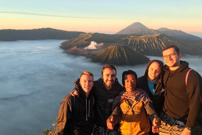 Marvel at the majestic sunrise on top of the world renowned Mount Bromo <br><br>Capture the pictures of a lifetime at Penanjakan summit  <br><br>Midnight trip from your hotel anywhere in Surabaya  <br><br>Visit Madakaripura Waterfall, a wonder of nature <br><br>No need to spend 1 night accommodation in Mount Bromo  <br><br>Single Travelers are Welcomed <br><br>All private tours<br><br>English & Bahasa Indonesian Speaking Guide