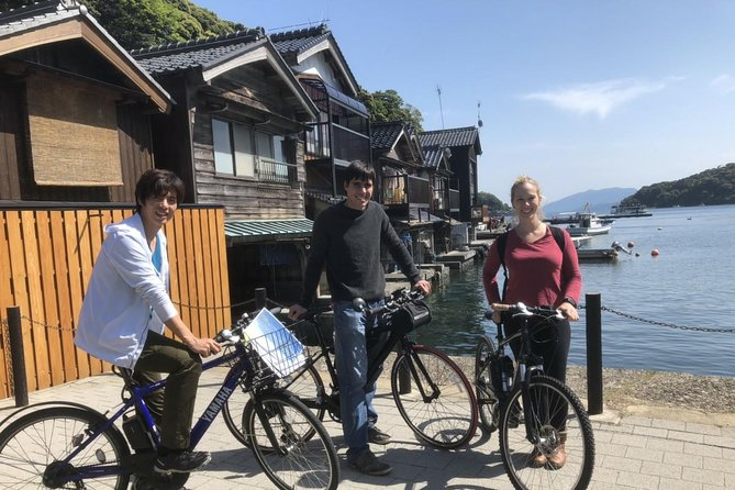"""Cycling is best way to enjoy the beautiful nature & culture in Ine !<br>Ine bay is at a length of 5km and difficult to go around all spots on foot. The road is narrow, so car is not also attractive.<br><br>We go around all Ine bay & visit in best beautiful spot to see Funaya cluster. Only this tour provides visiting inside of Funaya & eating local meal in front of sea and Funaya. <br>The guide is local and professional in Ine tourism Information.<br>Moreover this tour uses latest electric assisted bicycle """"YAMAHA PAS Brace"""". Totally different from normal bicycle or walking, its power is very strong and calm, easy to drive without licence or lesson. So even beginner or elderly person can enjoy without any stress."""