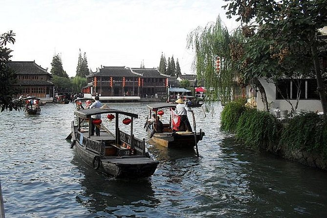"Enjoy a relaxing half day tour to the remarkable ancient water town Zhujiajiao with your local lovely guide. Experience the charming ""Oriental Venice ""and explore the ancient water alley streets ;appreciate the traditional Ming and Qing Dynasty architecture. Visit the classic Kezhi garden and enjoy a fun boat ride in the ancient waterways. Private tour insures a more flexible and personalized experience."