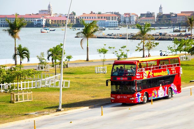 With a 24-hour or 48-hour ticket, customers can enjoy unlimited hop-on hop-off access on a highly enjoyable double-decker bus tour of Panama City! From the open-top deck passengers can experience 360-degree views of Panama's best sights, including the Panama Canal, Balboa Plaza, Flamenco Island, Biomuseo, Casco Antiguo, Albrook Mall and much more! See these landmarks at your own pace, hopping off as you please. Or stay on-board for the full 2 hour loop, and listen to the informative audio tour commentary provided in 3 languages.
