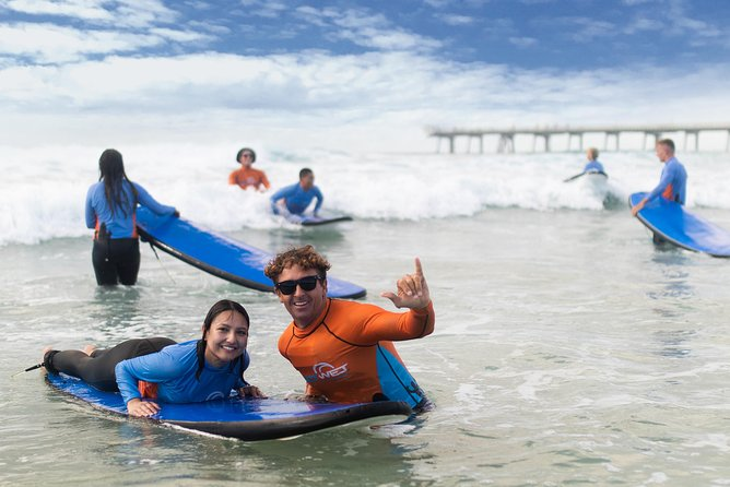 Anyone can now experience the thrill of a surfing lesson at one of the area's best surf schools.You'll have fun, be safe and you won't believe how easy it will be to get up and riding!Learning to surfis an amazing experienceand an awesome thing to do while in Surfers Paradise.Thissurf lesson caters to ages 12 and up with dedicated children's lesson available during school holidays, all levels of fitness and no swimming abilities needed due to the safe location the lessons are conducted.