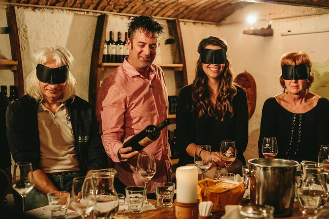 We start our tasting in a wine cellar, that is over 100 years old. You will get to know and taste 7 different wine samples and find out all the wine facts and more.
