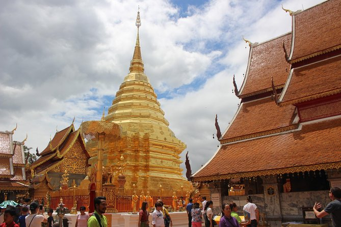 - If you haven't seen Doi suthep, you haven't been to Chiangmai.<br><br>Take in Chiang Mai's history and culture on a half-day tour through Doi Suthep and a Hmong hill tribe village. Wat Phra That Doi suthep , which is located 16 Km's from the city and 3,500 feet (1,066 meters) above sea level, is one of northern Thailand's most sacred and prominent temples. <br><br>You can't miss the stunning panoramic view of Chiangmai and beyond from the cool view point at the front of the temple as well as temple itself.<br><br>In Hmong village you will explore picturesque hill tribe village set in an attractive hillside spot.
