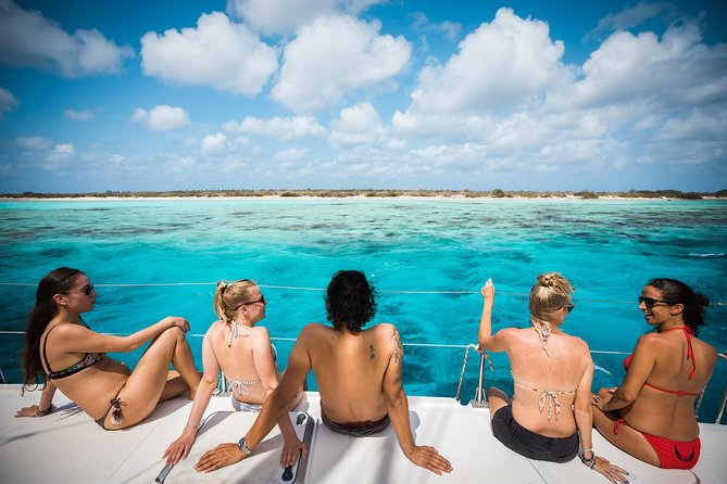 Are you visiting Bonaire by cruise ship? Then join us on our catamaran sailing lunch & snorkel coastal excursion, a cruise ship excursion especially customized for cruise ship visitors! With one of our catamarans we will visit two beautiful sheltered spots in the Marine Park, where you can explore the famous underwater life of Bonaire together with our professional snorkel guides. On-board you have enough time to relax, enjoy an ice cold drink and a delicious lunch whilst sightseeing Bonaire and Klein Bonaire.<br><br>Book online now to ensure your EPIC adventure!<br><br>Our schedule is perfectly attuned to arrival and departure times of your cruise ship.<br><br>Are you not on a cruise ship but do you think this tour is fun to do? That's no problem! This tour can also be booked by non-cruise ship guests.<br><br>Do you want to book a date that is not available? Or are you interested to book a private tour with no other guests on board? <br>Use our contact form to send us a message or contact us directly. We may have available options for you!<br>
