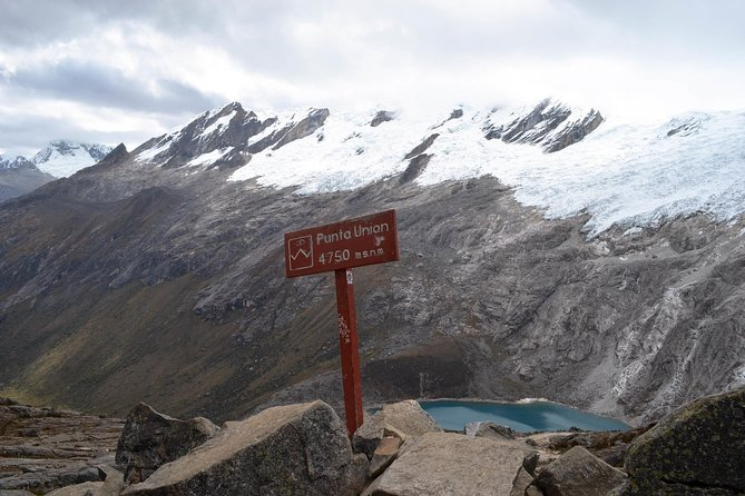 Treks depart from Huaraz, an adventure town where you can check your gear and pick up snacks for your ride to the trailhead near Vaqueria (12,139 ft / 3700 m) or Cashapampa (9514 ft / 2900 m).<br><br>The highest point along this 27 mile (43 km) walk is Punta Union Pass (15,616 ft / 4760 m). If you have more time to spend in the wilderness, there are a few side treks you can make, extending the trip to a week or more.<br><br>The following itinerary starts at Vaqueria.
