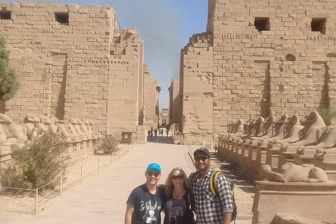 Keen to visit Luxor while in Cairo, but want do it with style and ease?<br>This private day trip by plane is ideal, and gets you to Luxor feeling fresh and stress-free.<br> On arrival, enjoy a full day of tours with a private Egyptology guide: exploring Valley of Kings' tombs,Hatsheput temple, KarnakTemple, and other monuments as you learn their stories and secrets.<br>experience the great river Nile by traditional sailing felucca,<br>ride a camel and touch the real culture in luxor.<br>return flight tickets,door to door transfers from and to your hotel, Airport transfers,typical Egyptian lunch,soft and hot drinks,Egyptology tour guide,qualified licensed drivers,felucca ride,camel ride,taxes and charges are included.<br>
