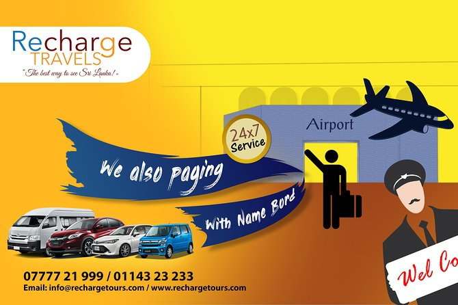 """EXPERIENCE THE SAME COMFORT AS IN A FLIGHT, EVEN AT GROUND WITH OUR EXCELLENT AIRPORT TRANSPORTATION SERVICE""<br><br>PICKUP FROM AIRPORT TO GALLE ANY HOTELS<br><br>BY CAR OR VAN<br><br>INCLUDING THE  AIRPORT MEET AND GREET.<br><br>PAGING BOARD HIGHWAY CHARGES INCLUDED<br><br>FREE WIFI AND WATER BOTTLE INCLUDED<br>"
