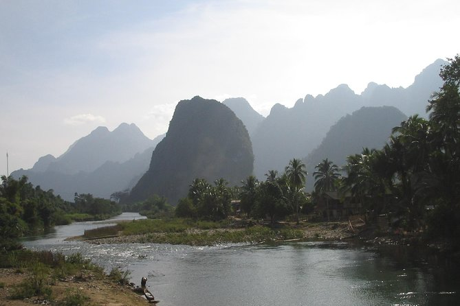 This one day of trekking and caving take us across the 1500 m high ridge of Vang Vieng to remote places that even locals do not know much about. The beauty of the Limestone Mountains must be seen to be believed.<br><br>Approximately: 15 minutes transfer/ 5 hours trekking / 30 minutes caving