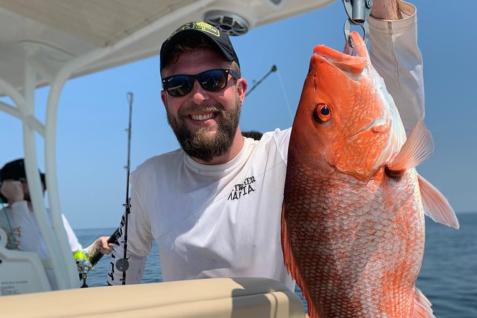 Alabama has thousands of artificial reefs off shore which hold Red Snapper, Grouper, Cobia, Vermillion Snapper, Lane Snapper, Triggerfish and a variety of many other species. <br><br>This trip is guaranteed to excite even the most avid angler! Children and Teens will be thrilled when they hook up on a fish that may be larger than them! This is also a great learning experience for new anglers, providing knowledge about the different types of tackle, bait and gear as well all the different species of fish the Gulf of Mexico has to offer. <br><br>You will most certainly experience the beauty of the outdoors only seen by boat. The Gulf is plentiful with Dolphins, Sea Turtles, Sharks and a variety of species sure to keep you entertained all day long. <br><br>Blue Water Charters is the way to go! We marry premier service with this productive fishery to bring you one of the best saltwater experiences in the Gulf of Mexico!