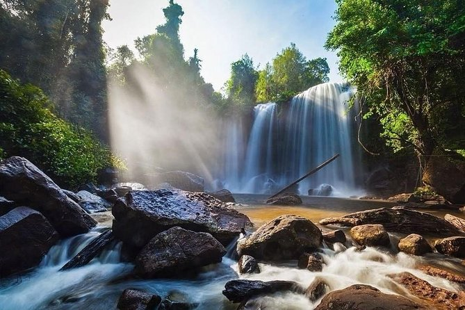 ABOUT TOUR<br>- The tour will start at 8:00 am and will finish estimated 3 o'clock <br>- Drop you off at the started point<br>- Recommend spectacular places in Siem Reap.<br><br>TOUR HIGHLIGHTS<br>- Local villages/people<br>- Animals, cows, water buffaloes,…eta<br>- Rice Paddy Fields, palm tree planting<br>- Natural surroundings<br>- Beautiful views while riding up the mountain<br>- Waterfall<br>- Optional swimming at the waterfall (change room onsite)<br>- Reclining Buddha<br>- Thousand Linga<br>- Mountain cliff views