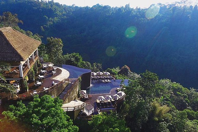 Bali Ubud Hanging Garden Day Tour presents youa romantic journey by visiting the most romantic hotel in Bali. Hanging Garden is awarded the most romantic hotel by Asia Pacific Love Travel Awards 2017. Hence, we recommend this tour for lovely couples. This romantic day tour is perfect for honeymoon. Give a romantic surprise for your lovely one! Pamper yourself with luxury treatments like tasty lunch set, spa, and afternoon tea. Don't miss to splash in its remarkable swimming pool overlooking the scenic view tranquil Ubud forest. Don't worry, we provide private car also in this tour inclusion for your convenience.