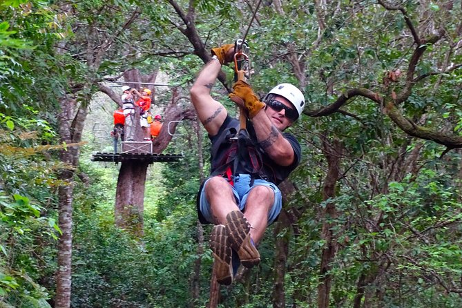 7 cable Zipline Canopy Tour Over La Fortuna Waterfall!, ,