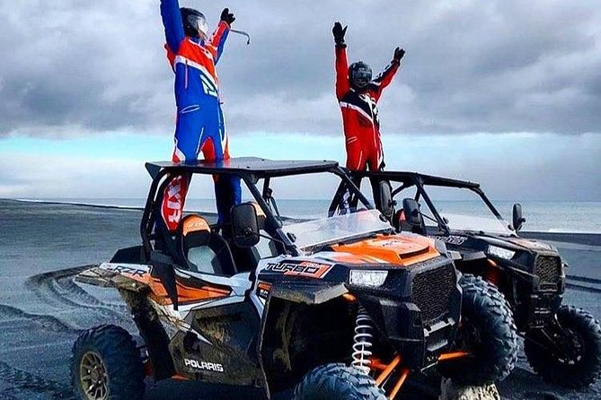 Experience the black sand beach of the world-famous South Coast of Iceland on our Polaris 1000 buggies. This 2-hour adventure starts in Hella and takes you to the black sand beach, Þykkvabæjarfjara. There you will experience the power of the Atlantic Ocean, and how it moulds the Icelandic landscape. Included in the tour is a personal guide, and all the gear that you will need for your buggy adventure. The tour has six departure times available on a single day and has a very low guests to guide ratio of 4:1. You can be sure that you will get a very personal experience on this semi-private buggy adventure tour.