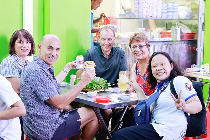 Enjoy an amazing night out with this 4 hour street food walking tour of Ho Chi Minh City. Meet your local guides in the evening then you will be taken to the streets of the city to explore some of the world's most exciting food cultures, as well as learn how to prepare the best rice pancakes, savor a menu of 9 mouth-watering dishes, special beer, and homemade Vietnamese rice wine and take in the sights, sounds, and smells of Ho Chi Minh City.