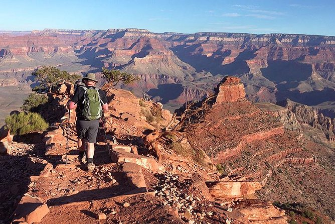 Wildland Trekking's expert guides are the best in the business, which is why we are the #1 rated Outdoor Activity at Grand Canyon National Park on Trip Advisor. We will show you the best of the South Rim by pointing out amazing landmarks, teaching you about the history and geology of the Grand Canyon, and helping you vastly increase the safety of your hike with expert guidance and preparation. Enjoy a wonderful picnic lunch, tasty snacks, excellent gear and passionate, educated, professional guides!
