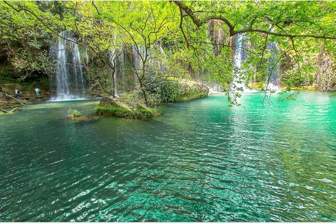 We will take 20 minutes for our first stop with the Düden waterfall.The waterfall,formed by the düden River (one of the largest rivers in southern Anatolia), ends 12 km north-east of Antalya where the clear waters of the Düden falls throw off a rocky cliff towards the Mediterranean in a dazzling show.<br><br>After düden, we will continue to visit Kurşunlu waterfall.Waterfall,one of the branches of the Aksu River and a pine forest in the middle of the situation has a very exceptional beauty.The rural area around suuyun is a nice picnic and pleasure spot.We'il take a lunch break on the way.<br><br>After lunch we will arrive in 10 minutes to Karpuzkaldiran waterfall.This waterfall is the highest as it is about.The water at a height of 30 meters is sprayed with great force on large rocks.Strong natural waterfalls,with plenty of water, really show the wealth given to Turkey.You can find places where you can relax at the beginning of almost every waterfall where you can refresh yourself