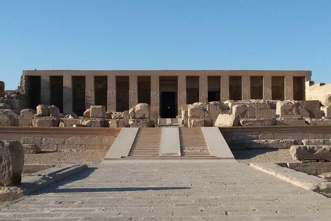 Enjoy full day private tour to visit Dendera and Abydos Temples from Luxor. Drive for about 175km to the north of Luxor to visit the temple of Abydos, dedicated to Osiris, God of the afterlife. Then, in the way back to Luxor you will visit Dendera Temple, one of the best preserved temple complexes in Egypt And then transfer back to your hotel in Luxor.