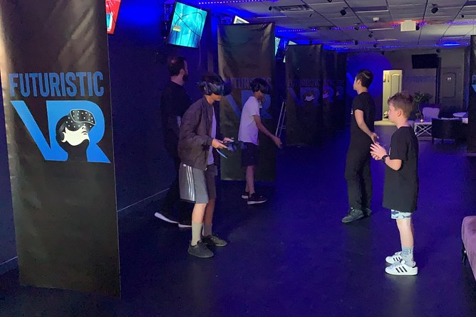 New fun and exciting virtual reality arcade where customers can have a social experience with friends and family.