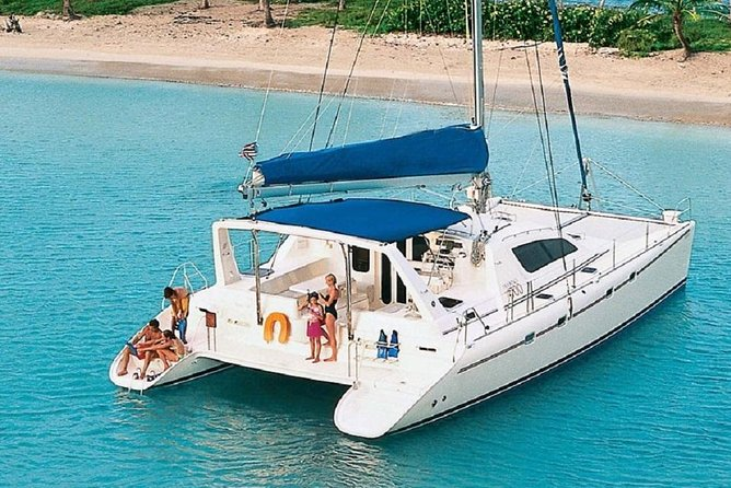 Spend the day on your own Luxury Yacht. This price is all inclusive for the Yacht, up to 12 people. You can select a half or full day charter. Visit the islands and harbors of St. Thomas and St. John or the exciting isles of the BVIs. S/Y Pisces is a 47′ luxury Leopard Catamaran with a spacious salon that opens on to an expansive back deck with comfortable seating. The bow of the boat offers relaxing seating with bean bag chairs and two large trampolines for group conversations, breezy tanning or turtle, dolphin and whale watching. Equipped with the latest in audio technology, Pisces has a JBL sound system with Bluetooth capability to ensure you travel with your favorite tunes. There are plenty of water toys to keep you entertained, from SUP's, snorkeling equipment and relaxing floats to beach games. You and our captain will design an itinerary that best meets your needs. Please note, BVI destinations w/ full day charters only. All departure times are listed in Local Island Time.