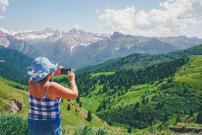 Discover the UNESCO World Heritage site of Dolomites on a 1-day tour. Starting from Verona, after a couple of hours you will begin to enter into Val di Fassa, a wide-open valley surrounded by mountain walls. Be amazed by its breath-taking landscapes and beautiful sceneries and let your guide lead you to Passo Pordoi, a 7345-feet-high pass. Next is an exciting cable car ride to reach the top of the mountain (10,341 feet): a stunning and one-of-a-kind destination for a spectacular panoramic view. Have a walk around for a while and stop at some rifugio (mountain refuge usually serving traditional food) for lunch. Look around and admire the white stones of Marmolada and other mountains. It is an experience you will never forget!