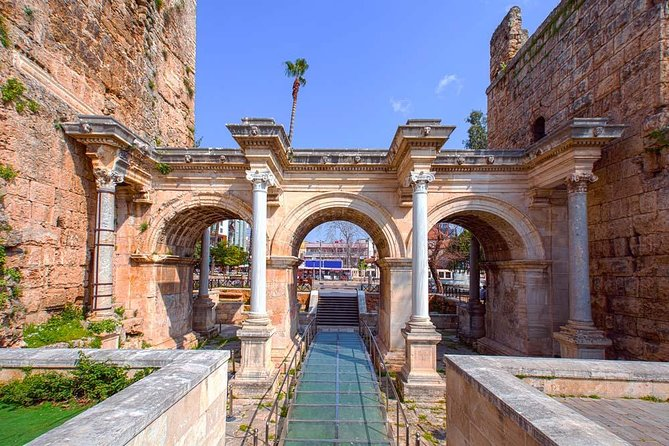 Antalya City Tou: Explore The old city, Kaleici, Clock Tower, Hadrian's Gate, Hidirlik Tower, Duden Waterfall, Archeological Museum.
