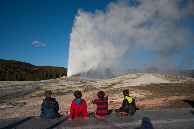 Spending the day on Yellowstone's lower loop will give you an opportunity to experience the best of what Yellowstone has to offer. A long the way stop and see the famous Old Faithful Geyser as it erupts 150 feet into the air. Walk along the Grand Canyon of Yellowstone and view the Lower Falls as water plunges 300 feet into the canyon. Visit the colorful hot springs and other thermal features at one of the many geyser basins including Fountain Paint Pots, Black Sand Geyser Basin, and Wet Thumb Geyser Basin. Watch for bison, elk, bears, wolves and numerous other animals in Hayden Valley and other wildlife hotspots. This is the recommended tour if you just have one day and want to see the best of Yellowstone.