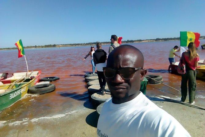Pink lake or lac rose, and bandia safari wildlife, Dakar, SENEGAL