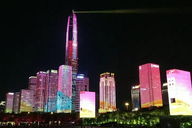 Enjoy watching light show at Civic Center (7:30 or 8:30pm, between Friday to weekend ),have a drink at the latitude Bar in Ping an Financial Tower (at 118th ),this bar is a good place to have a bird's eye view of Shenzhen, maybe have a dinner somewhere or go shopping.