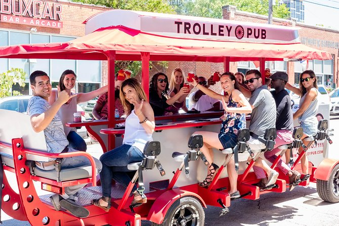 Check out the best Raleigh has to offer on this two-hour pedal powered pub crawl. You'll stop by some of the hottest spots in Downtown Wilmington on our mobile bar on wheels. Tours are BYOB with our on-board cooler and you can play your own music.<br>The tour is the most fun way to experience the city and our trained guides help have a blast.