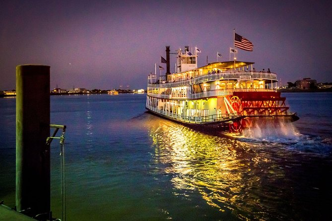 The Steamboat NATCHEZ is taking some time off, but her sister vessel will be taking her place. You'll get the same authentic riverboat experience of a leisurely, two-hour cruise on the mighty Mississippi, enjoying traditional live jazz, craft cocktails, and all the beautiful New Orleans sites, while also exploring the newly renovated riverboat. Make sure you check out all four decks - the top deck view is a sight to see! Upgrade your ticket for a delicious tableside Creole dinner.