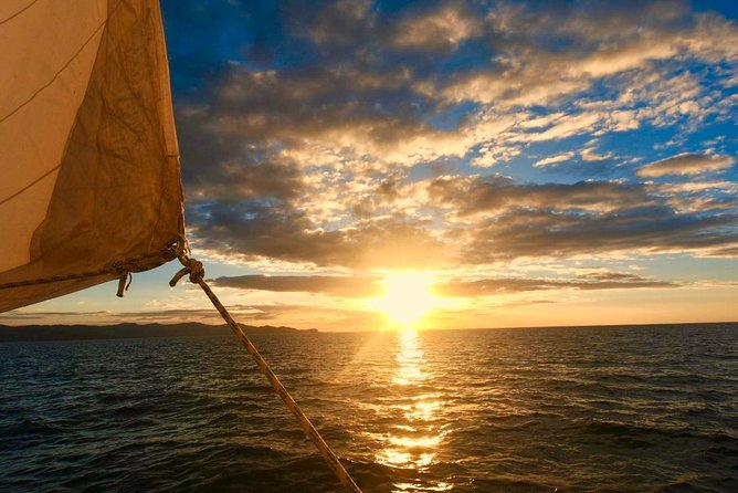 Enjoy the beautiful sunset only seen by way of the sea while sailing in Costa Rica! Complete your day with a relaxing sunset cruise aboard Kuna Vela sailing the beautiful Gulf of Papagayo. Relax aboard our 47 foot monohull sailboat, snorkel and explore coves, visit secluded beaches and enjoy a breathtaking sunset only seen by a voyage at sea!<br><br>After snorkeling and beach time, you'll enjoy delicious fresh snacks and beverages prepared daily on the boat, as we sail to the perfect location for you to enjoy the breathtaking sunset to our synchronized music playlist.<br><br>Depending on the time of year, it's likely you'll see sea turtles, dolphins, rays, and even whales! Complimentary photos will be taken above and below water<br><br>Kuna Vela Sailing Tours departs from Playas del Coco. Our tours are family-friendly; we welcome guests of all ages on board!<br><br>We also offer specialized private tours. For more information please give us a call.<br><br>